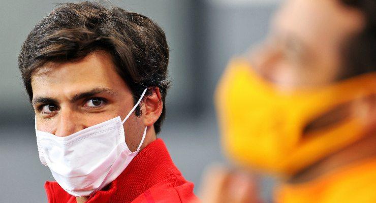 Carlos Sainz nella conferenza stampa alla vigilia del Gran Premio del Belgio di F1 2021 a Spa-Francorchamps