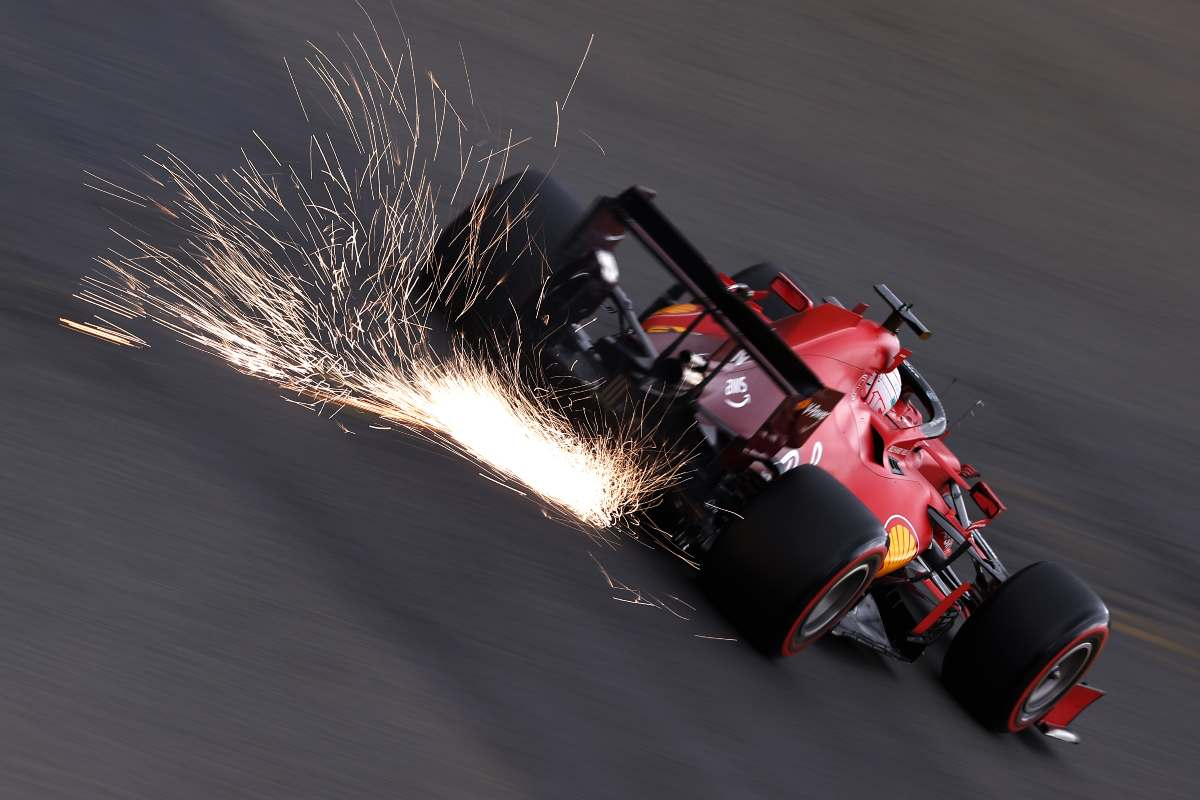 Charles Leclerc sulla Ferrari nelle prove libere del Gran Premio del Belgio di F1 2021 a Spa-Francorchamps