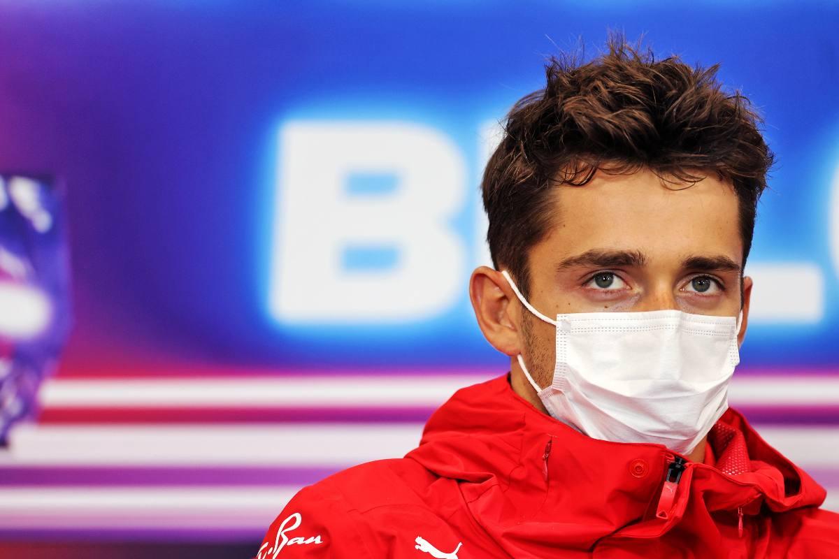 Charles Leclerc nella conferenza stampa alla vigilia del Gran Premio del Belgio di F1 2021 a Spa-Francorchamps