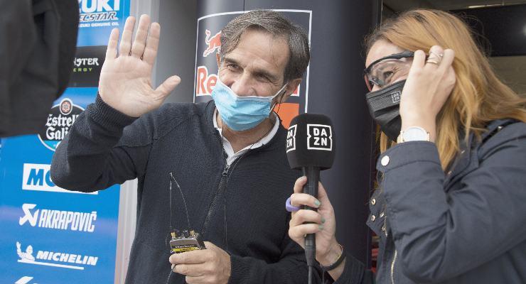 Davide Brivio in visita al paddock della MotoGP al Gran Premio di Stiria al Red Bull Ring