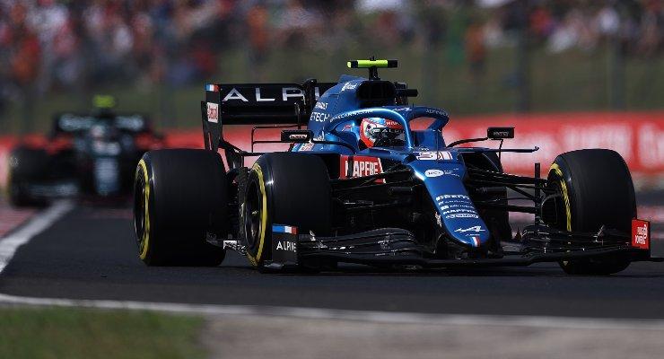Esteban Ocon sulla Alpine nel Gran Premio d'Ungheria di F1 2021 a Budapest
