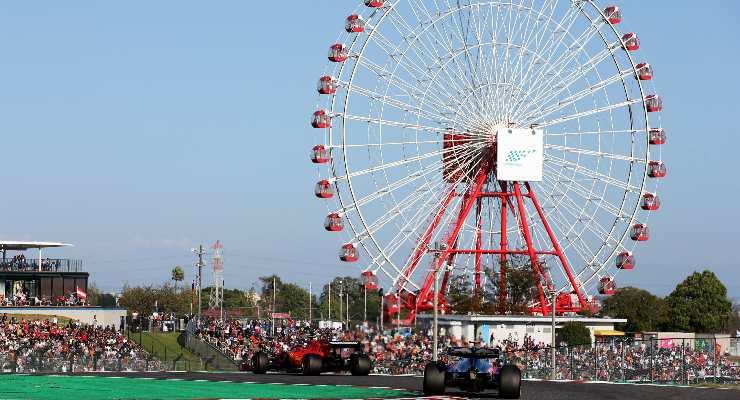 Una fase di gara del Gran Premio del Giappone di F1 2021 a Suzuka