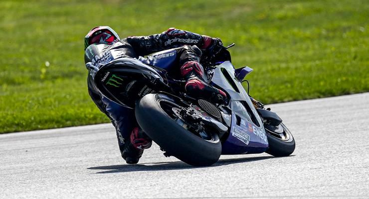 Fabio Quartararo in pista al Gran Premio d'Austria di MotoGP 2021 al Red Bull Ring (Foto Yamaha)