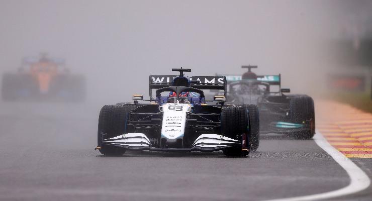 George Russell in pista al Gran Premio del Belgio di F1 2021 a Spa-Francorchamps