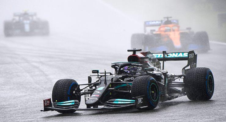 Lewis Hamilton in pista al Gran Premio del Belgio di F1 2021 a Spa-Francorchamps
