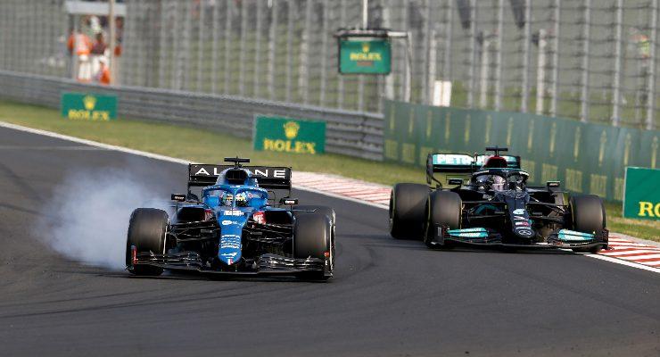 Lewis Hamilton in lotta al Gran Premio d'Ungheria di F1 2021 a Budapest