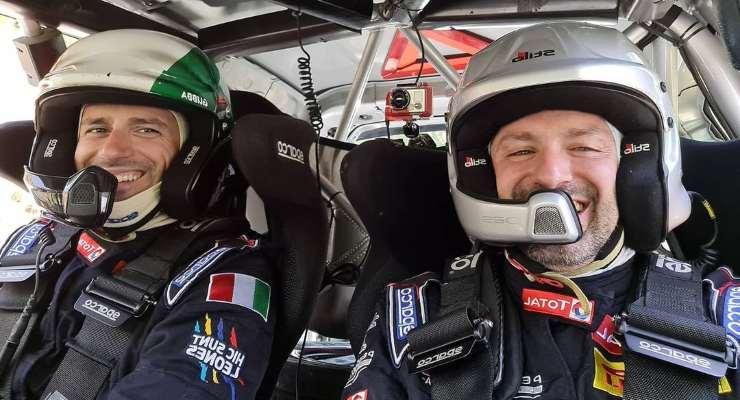 L'equipaggio formato da Claudio Gubertini e Alberto Ialungo
