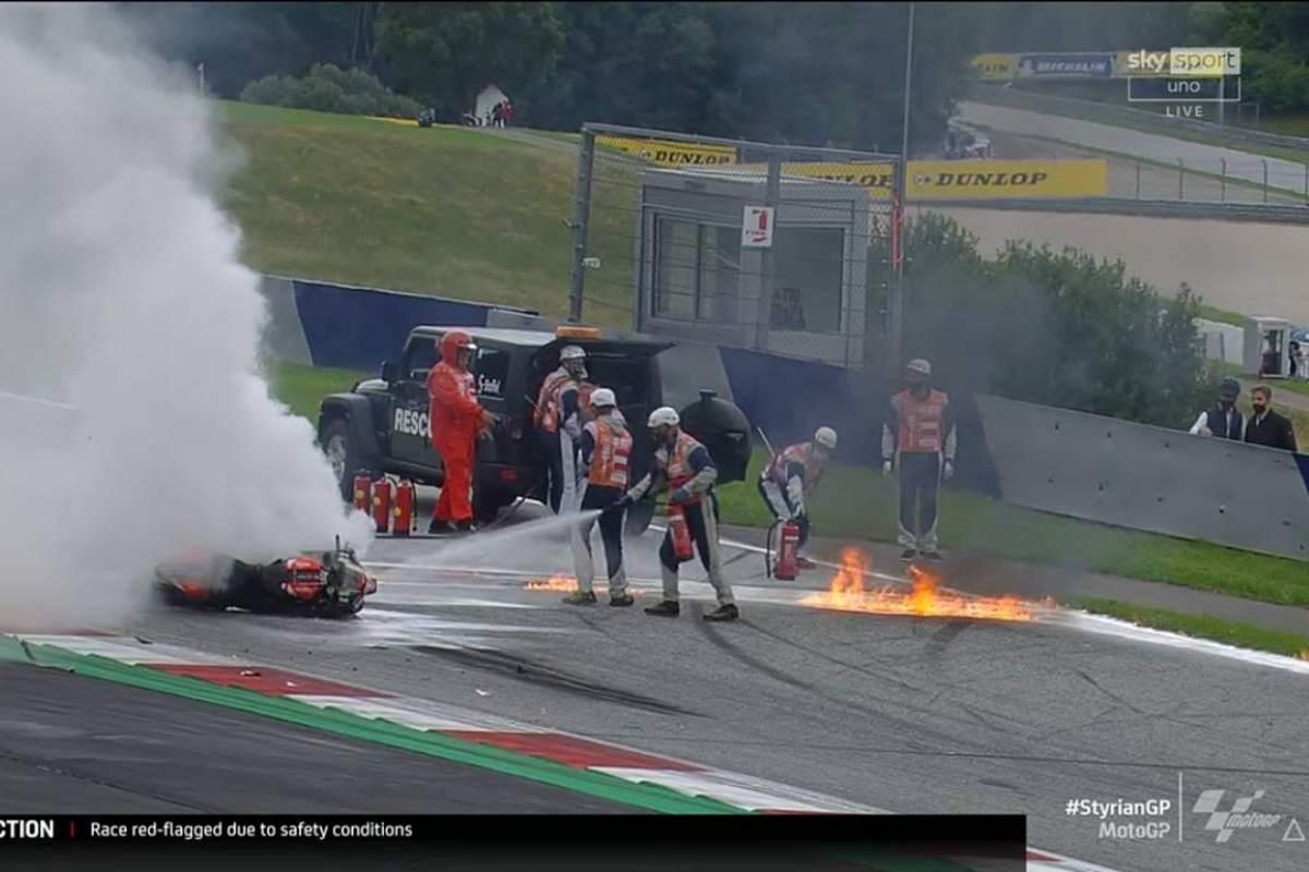 La caduta di Dani Pedrosa al Gran Premio di Stiria di MotoGP 2021 al Red Bull Ring