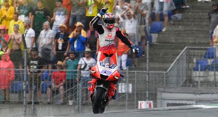 Jorge Martin sulla Ducati Pramac in pista