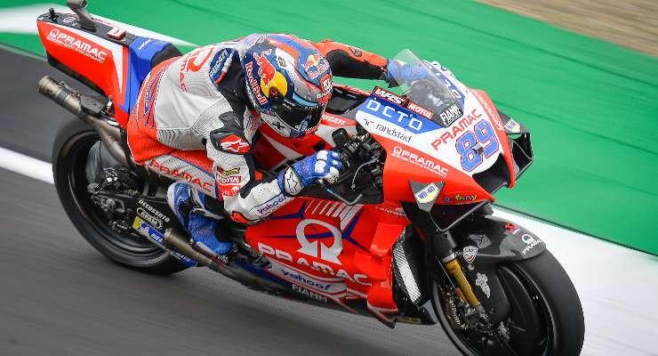 Jorge Martin sulla Ducati Pramac nel Gran Premio di Gran Bretagna di MotoGP 2021 a Silverstone (Foto Dorna)