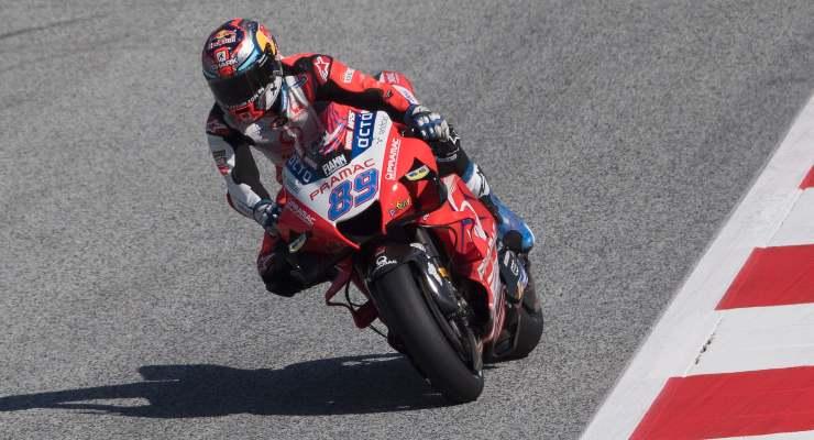 Jorge Martin in pista sulla Ducati Pramac in pista al Gran Premio di Stiria di MotoGP 2021 al Red Bull Ring