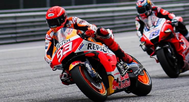 Marc Marquez in sella alla Honda nel Gran Premio d'Austria di MotoGP 2021 al Red Bull Ring