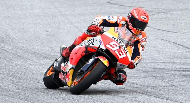 Marc Marquez in pista sulla Honda al Gran Premio di Stiria di MotoGP 2021 al Red Bull Ring