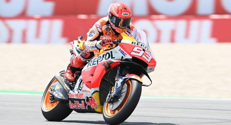 Marc Marquez in pista sulla Honda al Gran Premio d'Olanda di MotoGP 2021 ad Assen