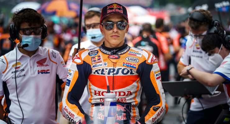 Marc Marquez sulla griglia di partenza del Gran Premio d'Austria di MotoGP 2021 al Red Bull Ring
