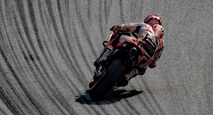 Marc Marquez in pista al Gran Premio d'Austria di MotoGP 2021 al Red Bull Ring