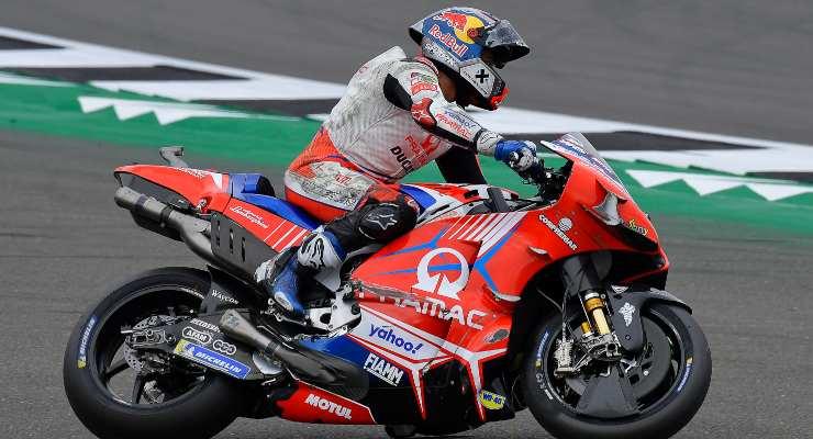 L'incidente tra Marc Marquez e Jorge Martin durante il Gran Premio di Gran Bretagna di MotoGP 2021 a Silverstone (Foto Dorna)