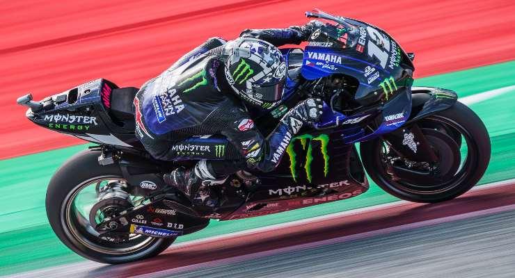 Maverick Vinales in pista sulla Yamaha al Gran Premio di Stiria di MotoGP 2021 al Red Bull Ring