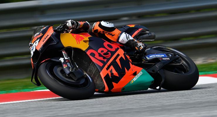 Miguel Oliveira in pista sulla Ktm nel Gran Premio di Stiria di MotoGP 2021 al Red Bull Ring