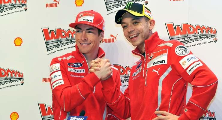 Nicky Hayden e Valentino Rossi