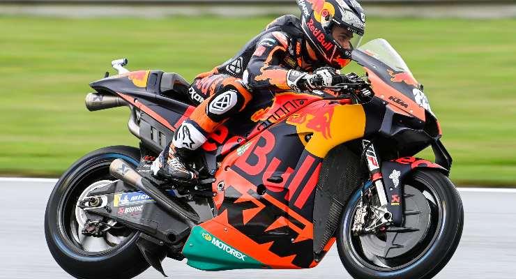 Miguel Oliveira in pista sulla Ktm nelle prove libere del Gran Premio di Stiria di MotoGP 2021 al Red Bull Ring