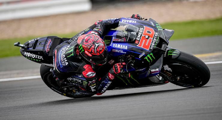 Fabio Quartararo nel Gran Premio di Gran Bretagna di MotoGP 2021 a Silverstone
