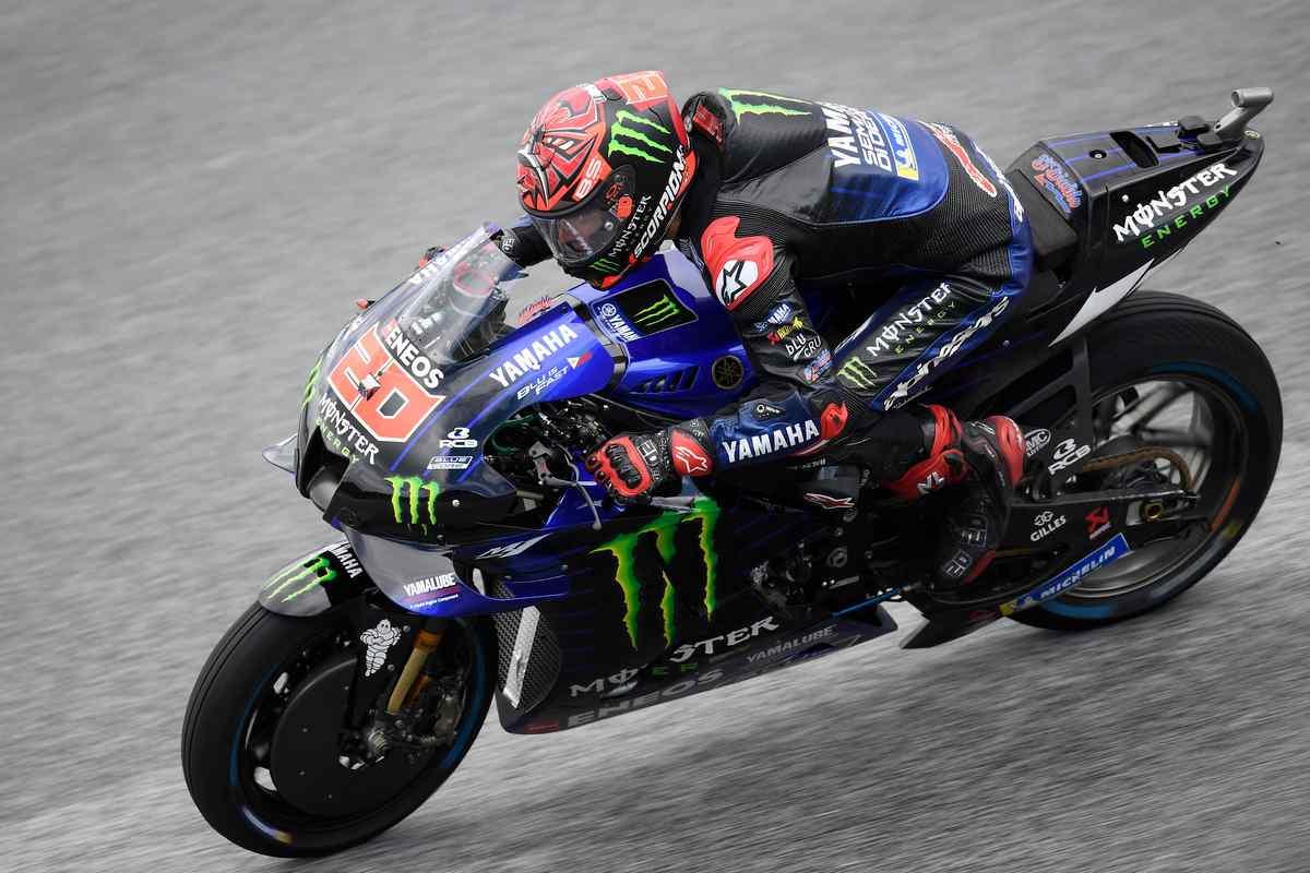 Fabio Quartararo in pista nelle prove libere del Gran Premio di Stiria di MotoGP 2021 al Red Bull Ring