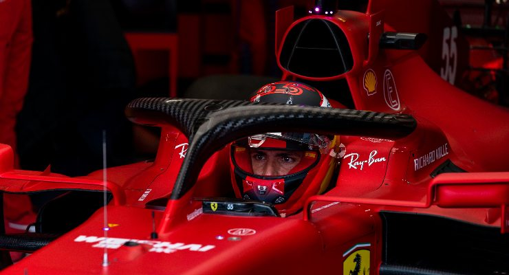 Carlos Sainz al Gran Premio d'Ungheria di F1 2021 a Budapest (Foto Ferrari)