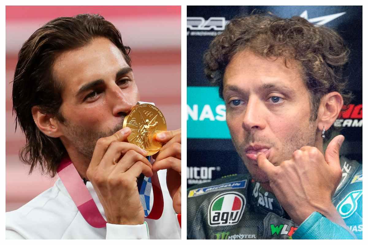 Gianmarco Tamberi e Valentino Rossi