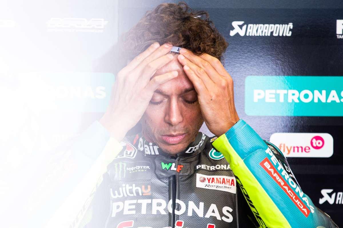 Valentino Rossi ai box nel Gran Premio d'Austria di MotoGP 2021 al Red Bull Ring