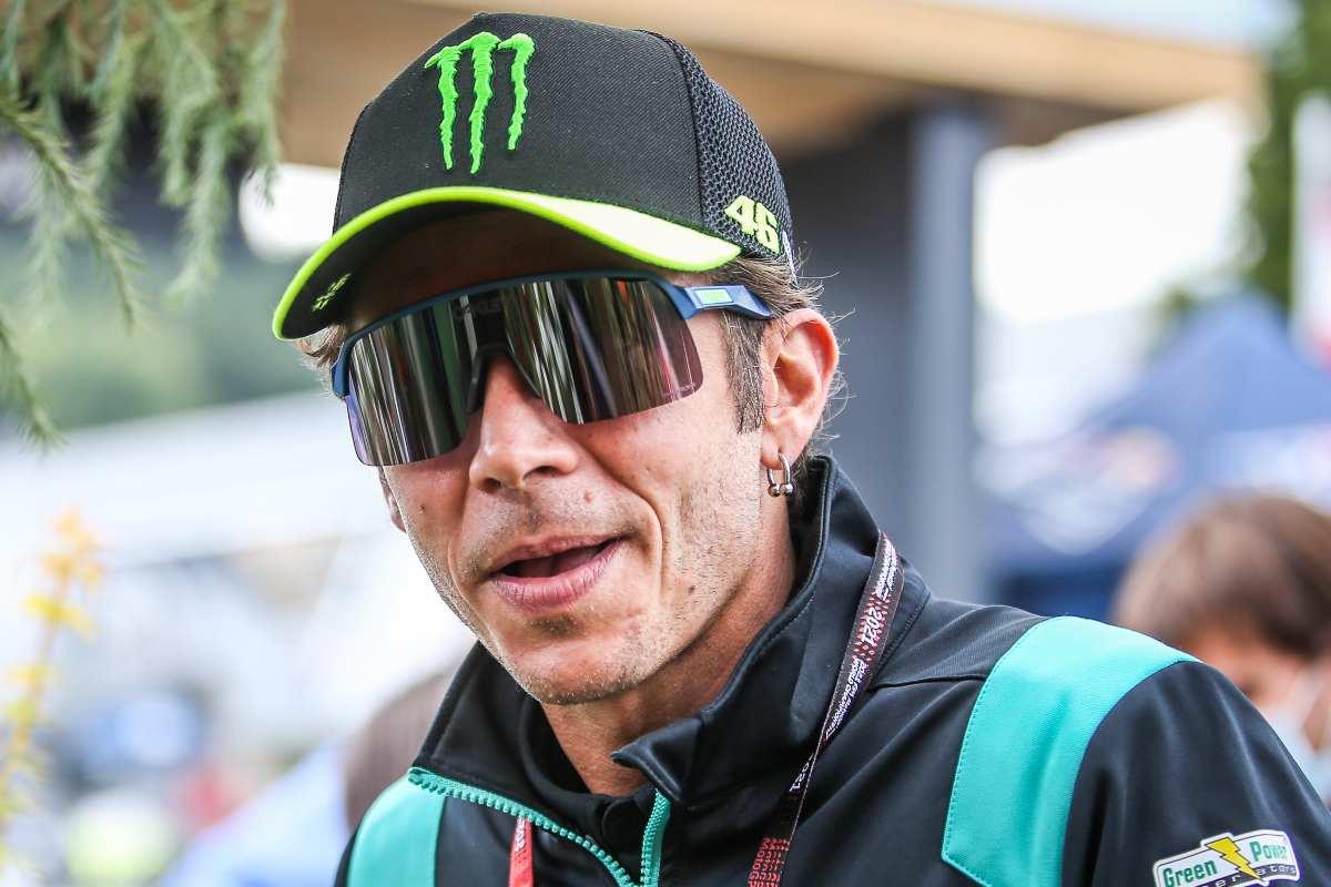 Valentino Rossi nel paddock del Gran Premio d'Austria di MotoGP 2021 al Red Bull Ring