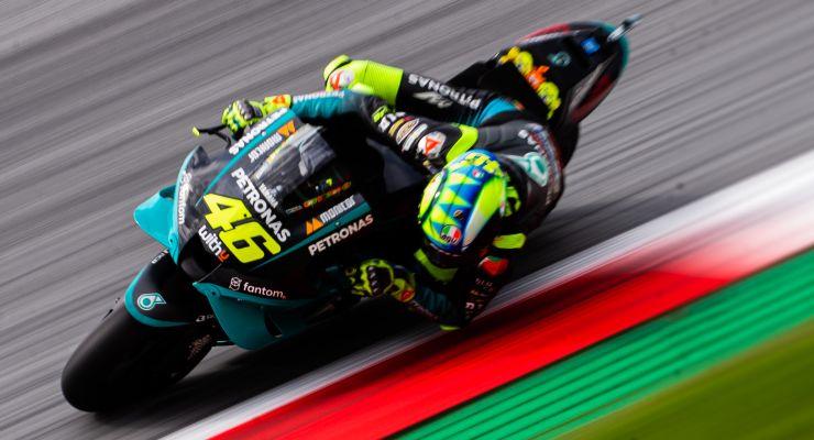 Valentino Rossi in pista sulla Yamaha Petronas al Gran Premio d'Austria di MotoGP 2021 al Red Bull Ring