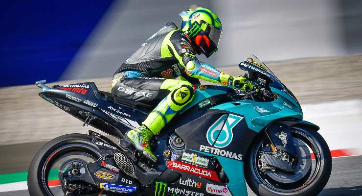 Valentino Rossi in pista sulla Petronas Yamaha al Gran Premio d'Austria di MotoGP 2021 al Red Bull Ring