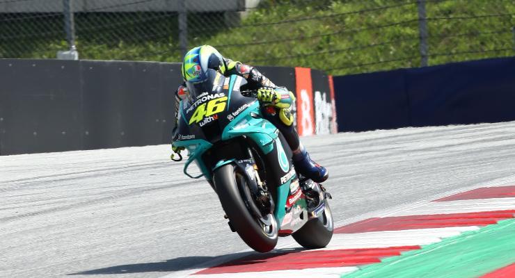 Valentino Rossi in pista al Gran Premio d'Austria di MotoGP 2021 al Red Bull Ring