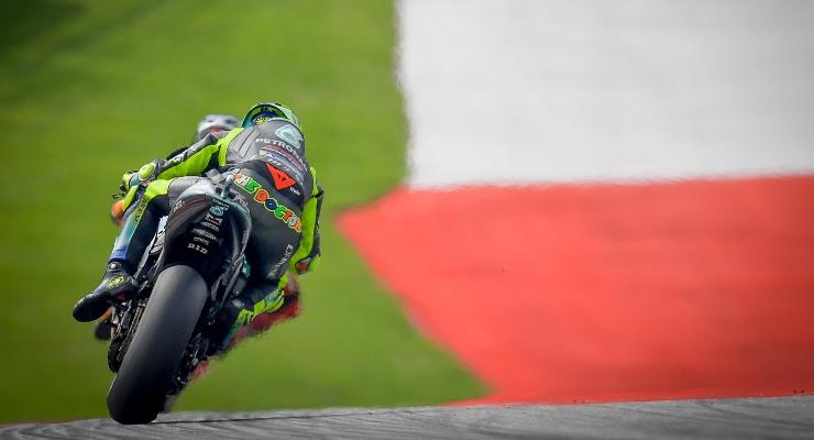 Valentino Rossi in pista sulla Yamaha Petronas nel Gran Premio d'Austria di MotoGP 2021 al Red Bull Ring