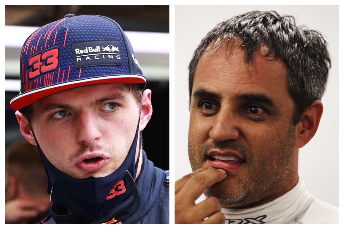 Max Verstappen e Juan Pablo Montoya