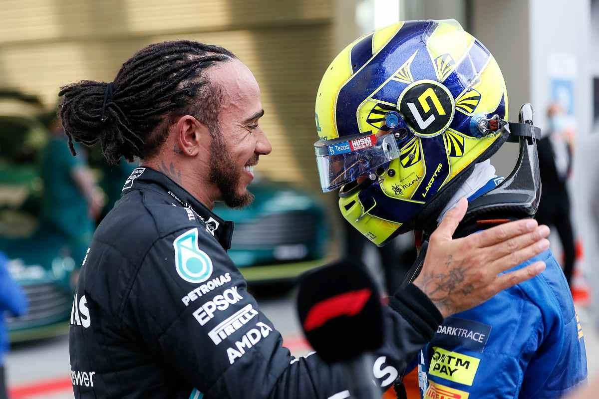 Lewis Hamilton e Lando Norris (GettyImages)