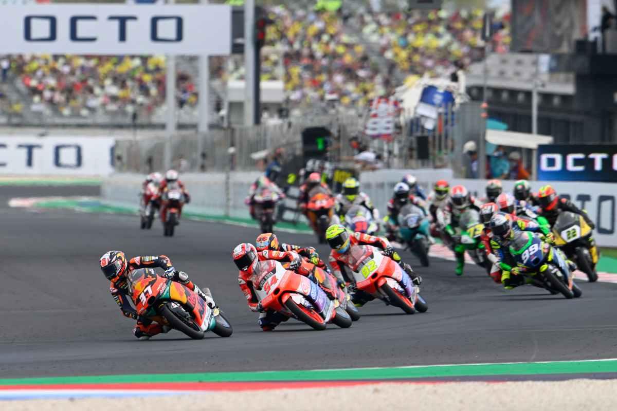 Una fase di gara del Gran Premio di Misano