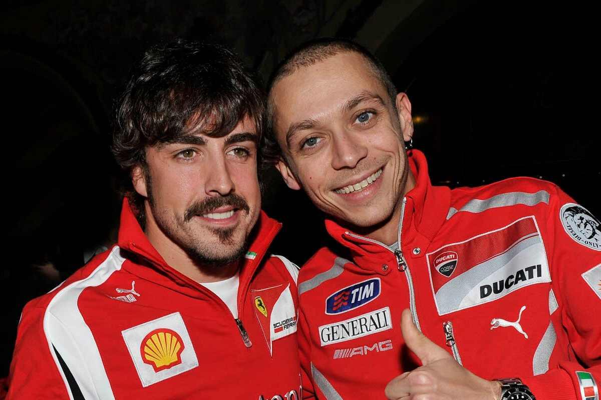 Fernando Alonso e Valentino Rossi