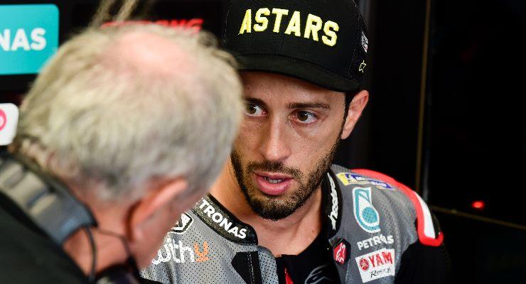 Andrea Dovizioso ai box nel Gran Premio di San Marino di MotoGP 2021 a Misano Adriatico