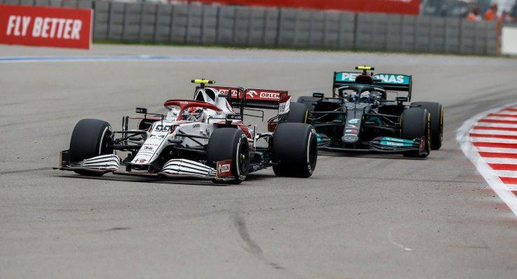 Antonio Giovinazzi in pista al Gran Premio di Russia di F1 2021 a Sochi