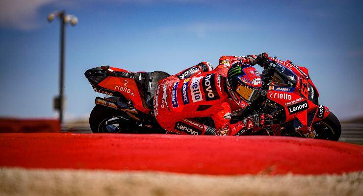 Pecco Bagnaia (Foto Ducati)Pecco Bagnaia al Gran Premio di Aragon di MotoGP 2021 ad Alcaniz