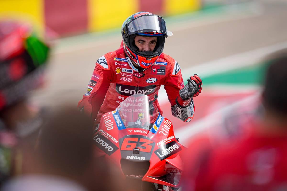 Pecco Bagnaia al Gran Premio di Aragon di MotoGP 2021 ad Alcaniz