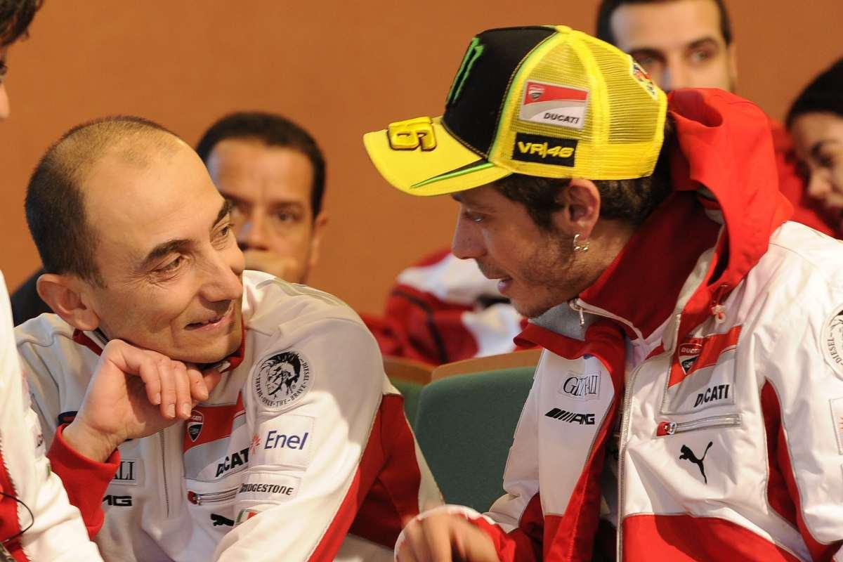 Claudio Domenicali e Valentino Rossi