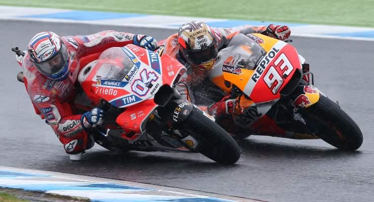 Andrea Dovizioso e Marc Marquez (Foto Ducati)