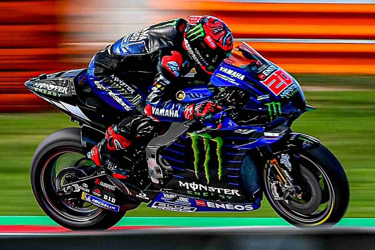 Fabio Quartararo in pista sulla Yamaha nei test MotoGP di Misano Adriatico