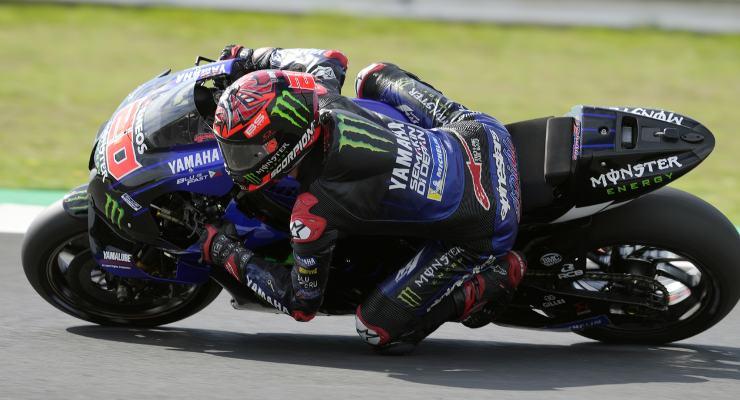 Fabio Quartararo in pista nei test MotoGP di Misano Adriatico