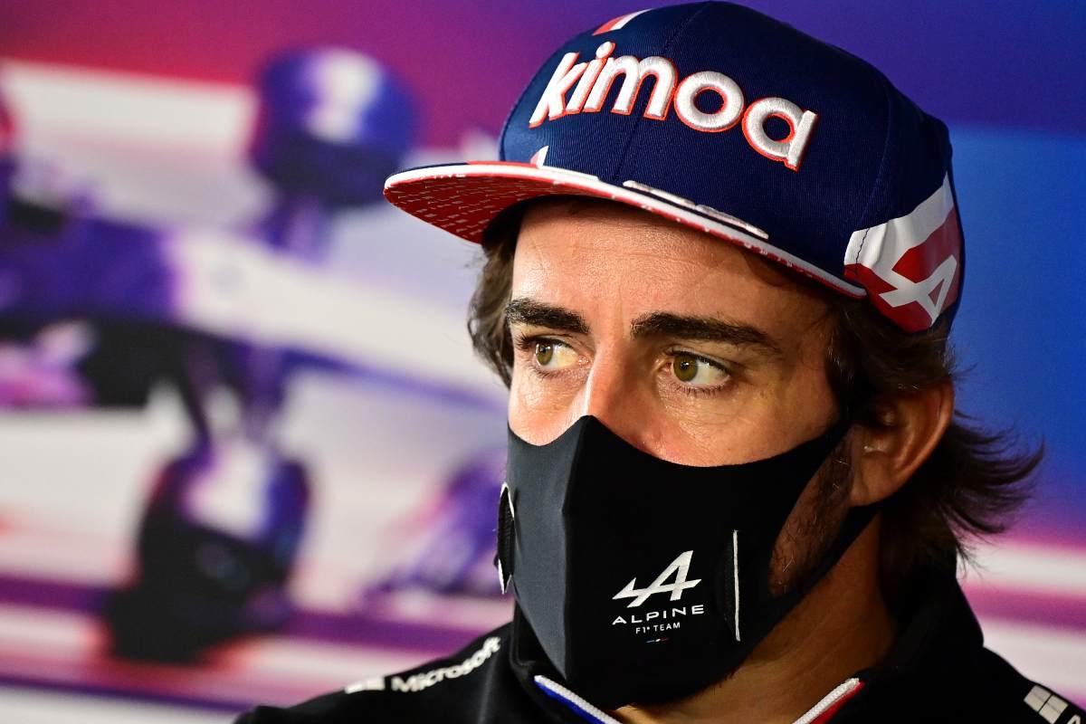 Fernando Alonso in conferenza stampa al Gran Premio d'Olanda di F1 2021 a Zandvoort