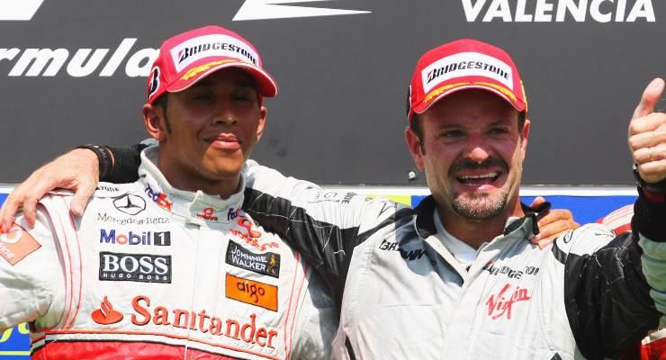 Lewis Hamilton e Rubens Barrichello
