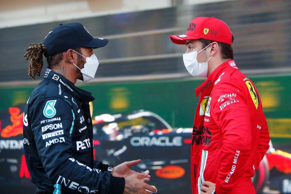 Lewis Hamilton e Charles Leclerc